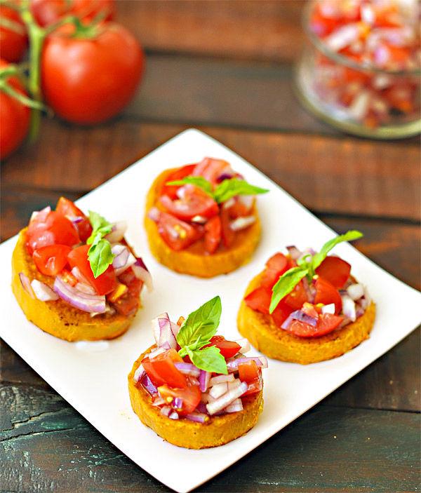 Healthy No-Bread Bruschetta