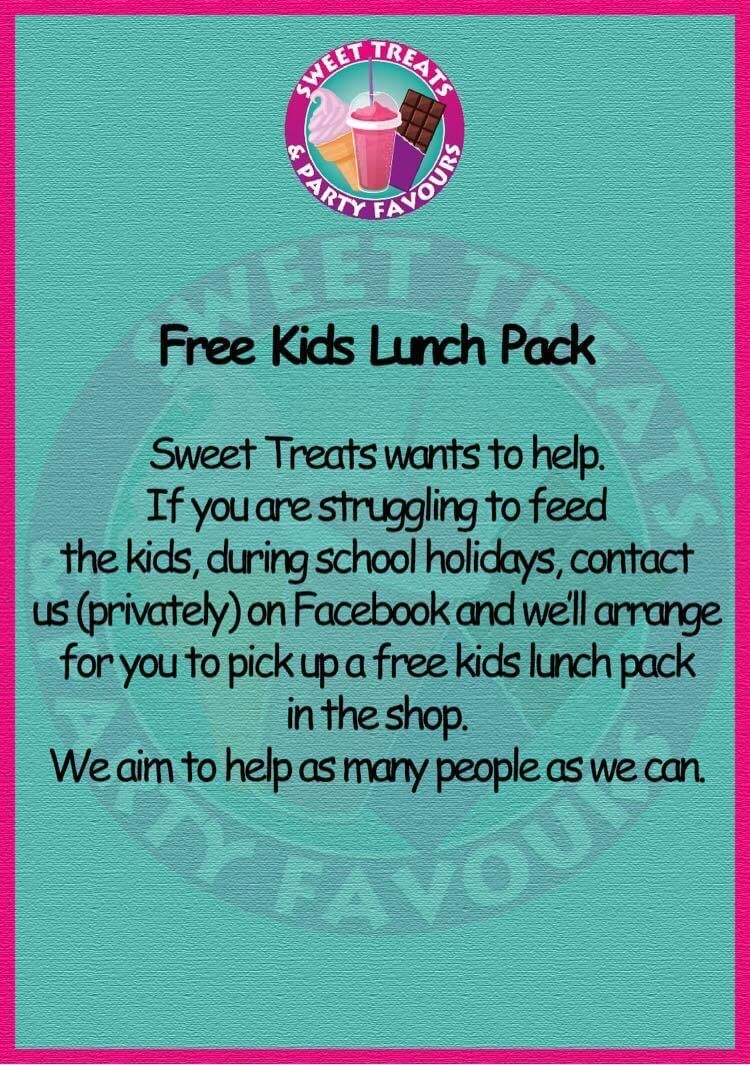 Branded Free Kids Lunches