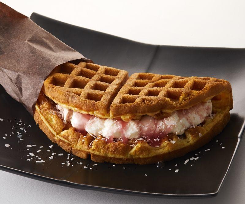 Sakura Waffle Sandwiches