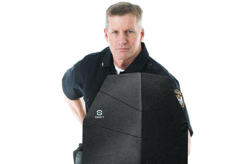 Origami-Inspired Police Shields