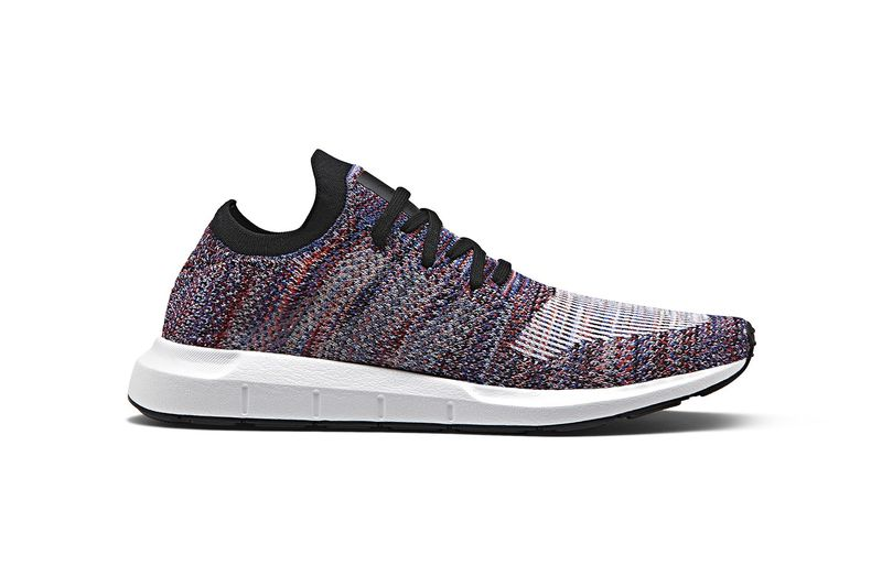 Multicolored Knit-Constructed Sneakers