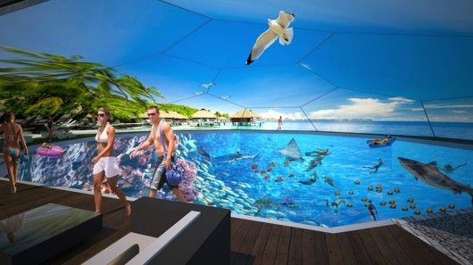 Virtual Reality Swimming Pools