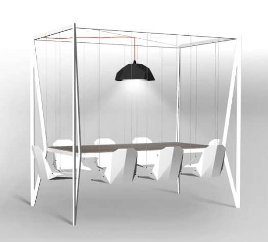 Polyethylene Playground Dining Furniture Adams Furniture Translucent Molecular Seating Projeto Atomic