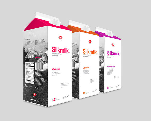 Minimalistic Dairy Branding Swiss Design