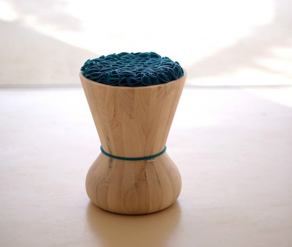 Frilly-Cushioned Stools