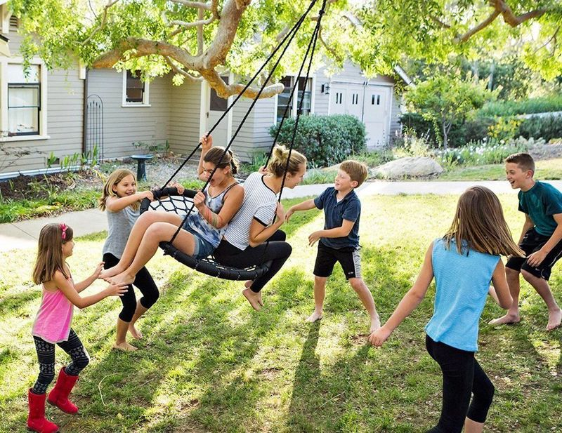 360-Degree Swiveling Swings