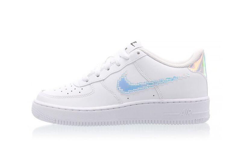 Digitally Inspired Shoe Swooshes