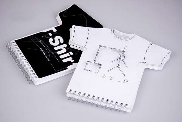 Shapely Notebooks: T-Shirt Shaped Sketchbook Helps ...