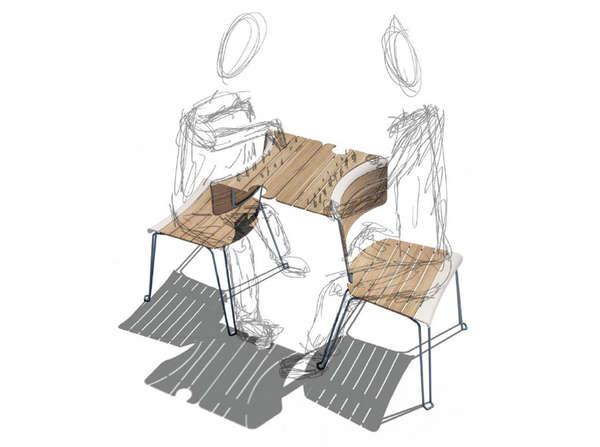 Space-Saving Table Seats