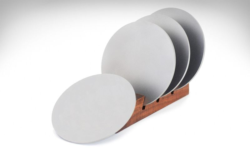 Durable Lightweight Metallic Coasters