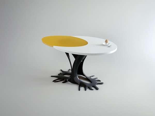 Sunny side up furniture table egg for Egg designs furniture
