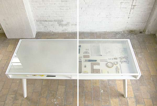 Transparent Transforming Desks
