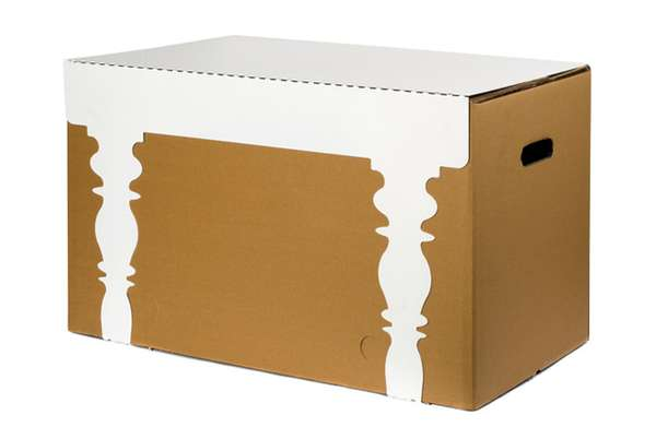cardboard box accessories wannabe turns boxes into chic tables. Black Bedroom Furniture Sets. Home Design Ideas