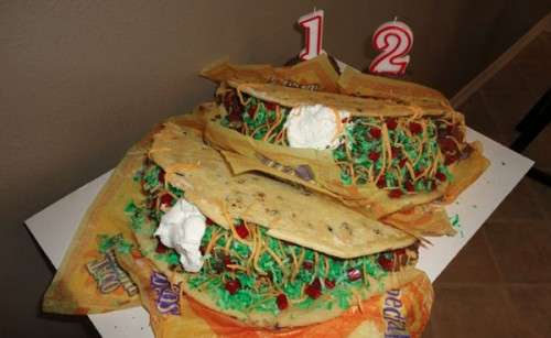 Deceptively Savory Sweets Taco Bell Birthday Cake