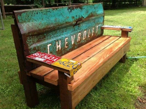 Upcycled Car Scrap Benches