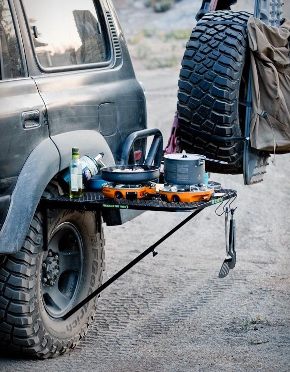 Wheel-Mounted Camping Tables