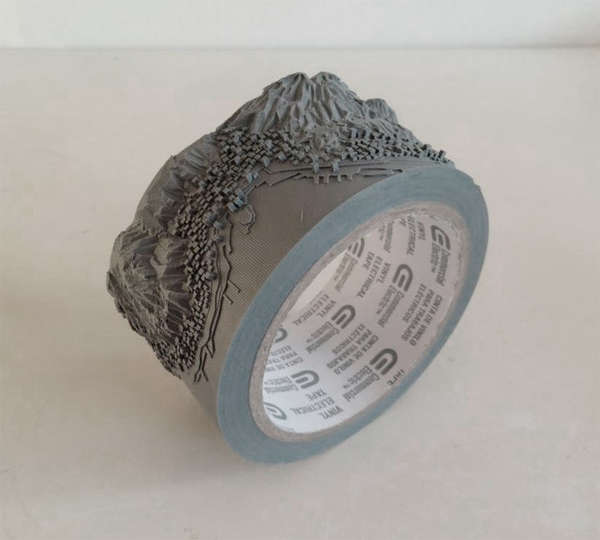 Topographical Tape Carvings