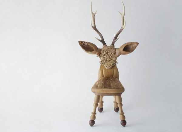 Imposing Antlered Kid's Chairs