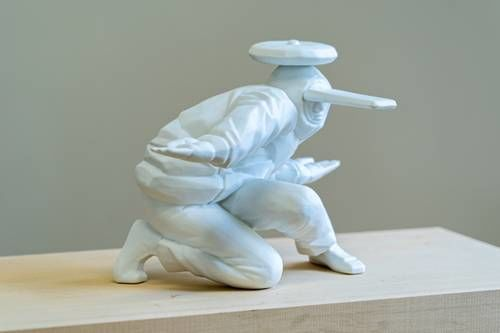 Dancing B-Boy Porcelain Figurines