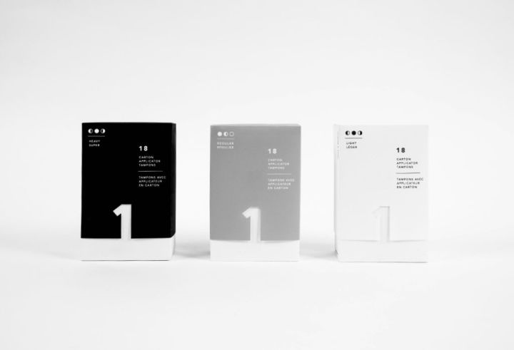 Minimalist Tampon Packaging