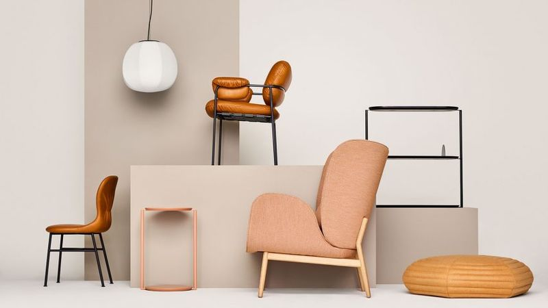 70s-Inspired Tan Furniture