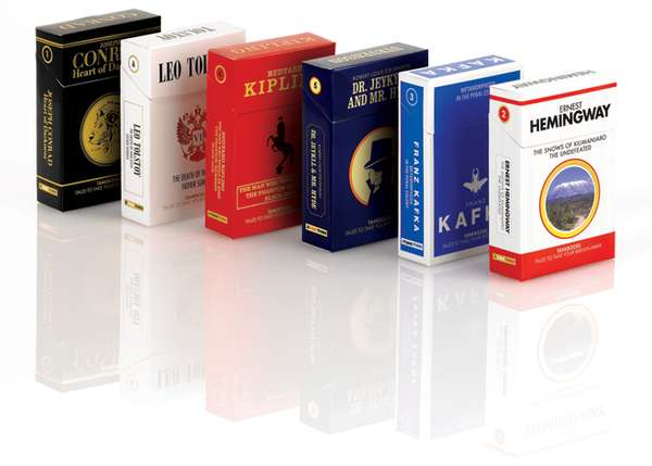 Cigarette Packages For Books