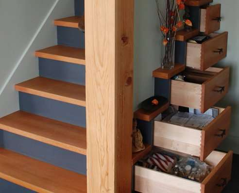 Step Concealed Storage Tansu Chest Stairs