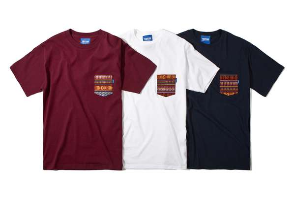 Contrasting Printed Pocket Tees