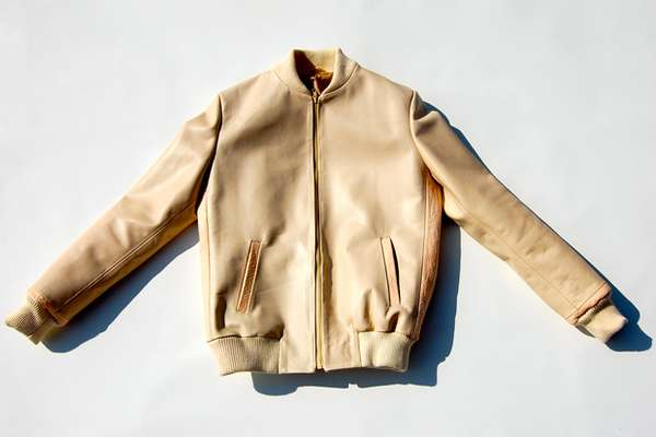 Beige Motocycle Jackets