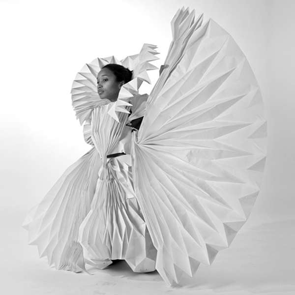 Complex Paper-Made Gowns