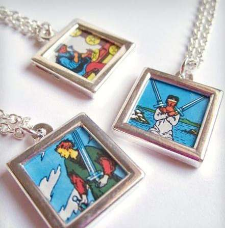 Tiny Tarot Card Necklaces