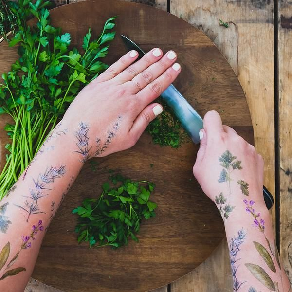 Herb-Scented Temporary Tattoos