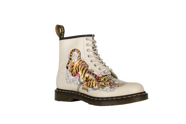Tattoo-Inspired Combat Boots