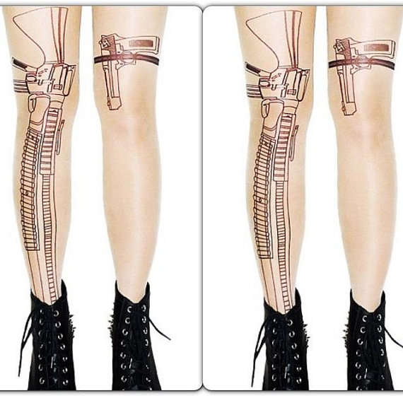 Weapon-Printed Hosiery