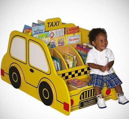 Kid-Sized Cab Bookshelves