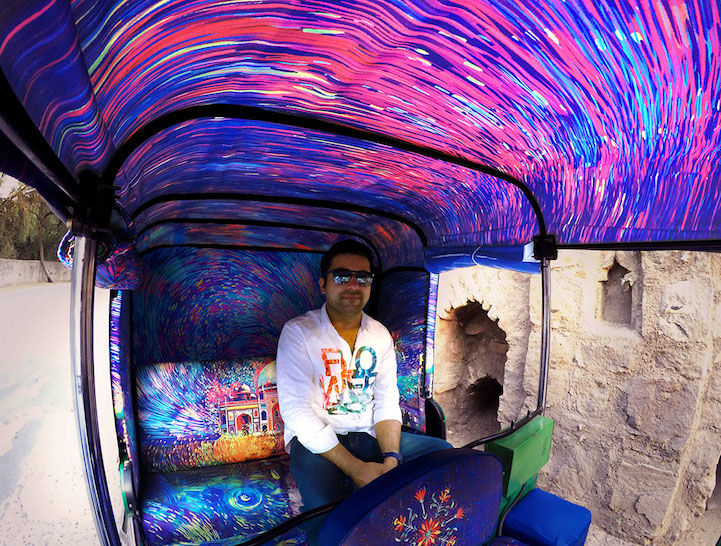 Artist-Inspired Rickshaws