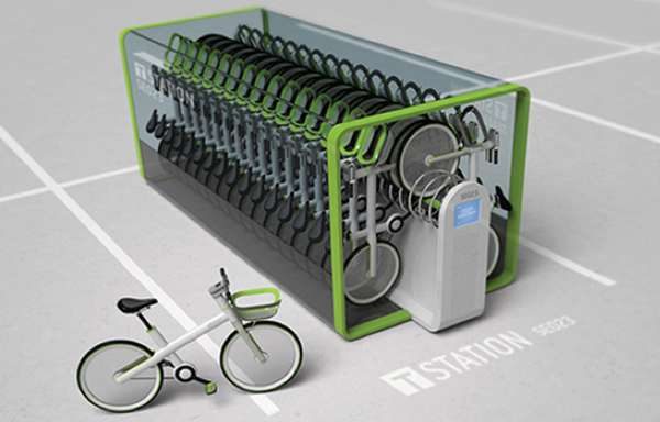 Close Packed Bicycle Storage T Bike By Jung Tak