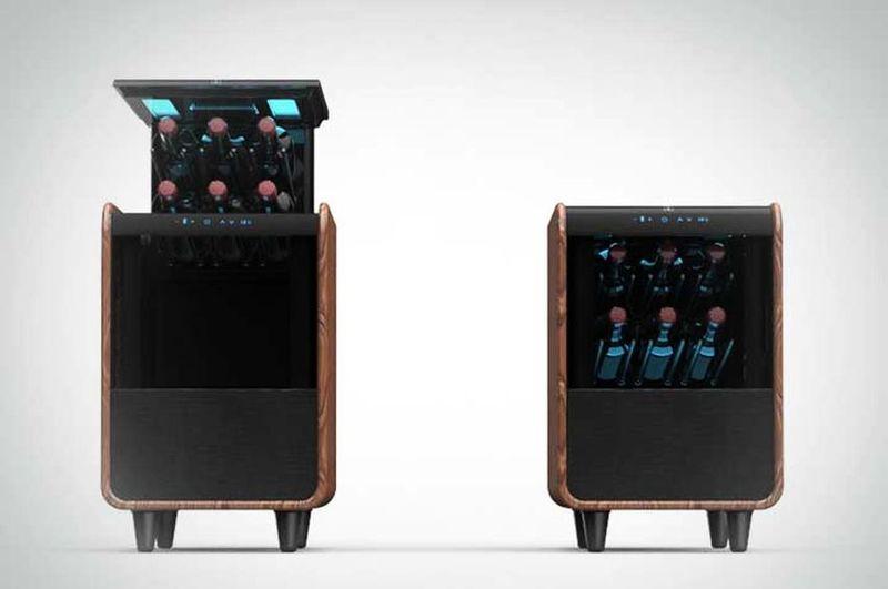 Wine Storage Speaker Tables