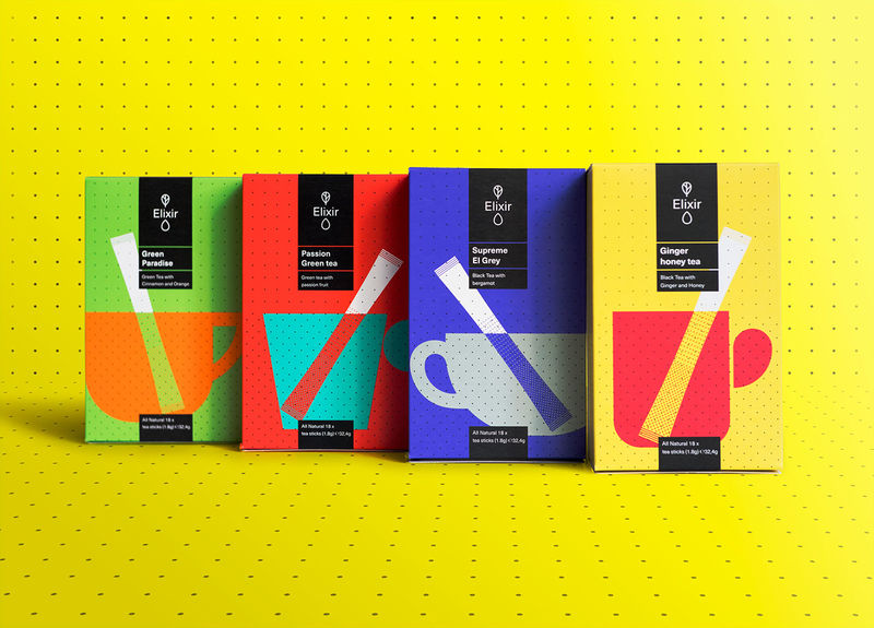 Technicolored Tea Branding