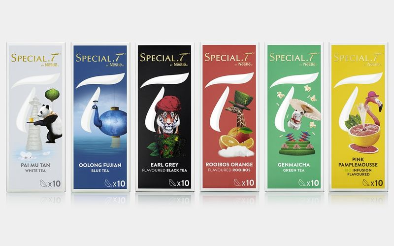 Whimsical Tea Capsule Packaging