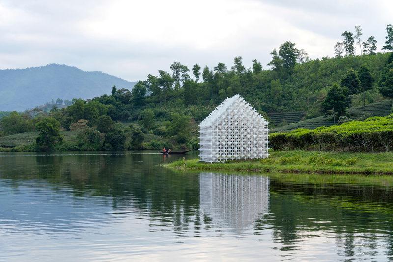 Intricate Tea Farmer Pavilions
