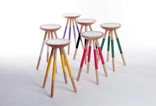 Saucer-Embedded Furniture