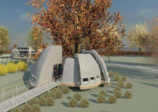 Futuristic Park Features