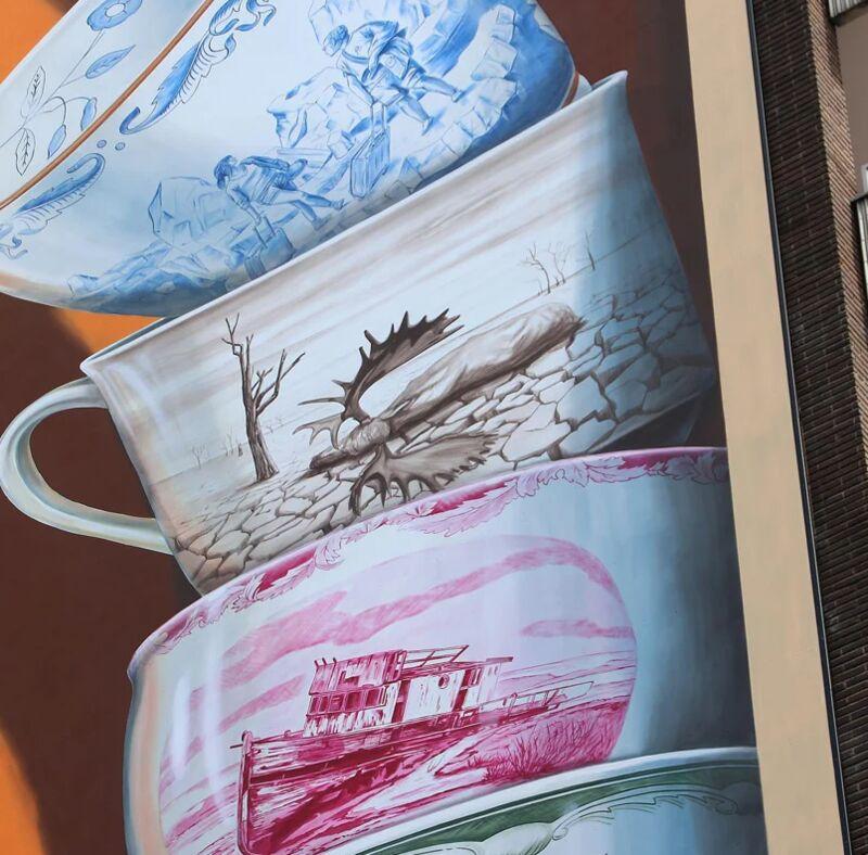 Teetering Teacup Murals