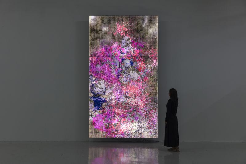 Floral Screen-Based Digital Art