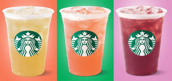 Colorful Iced Tea Beverages