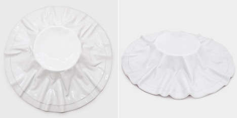Faux Fabric Dishware