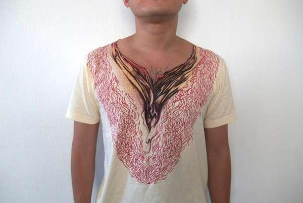 Shocking Birth-Depicting Shirts