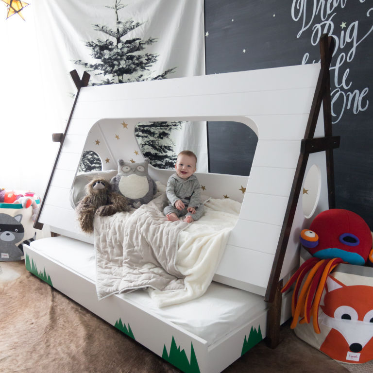 DIY Tent Bedding : Teepee Bed