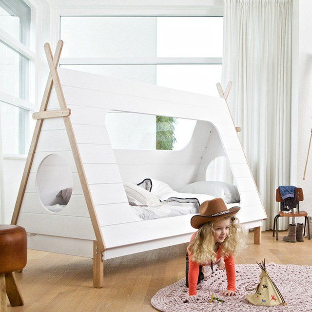 Wooden Teepee Beds